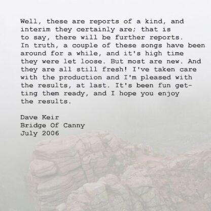 Dave Keir - Interim Reports