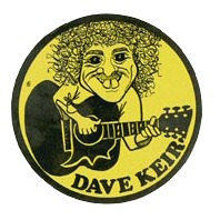 Dave Keir promotional sticker, c. 1978